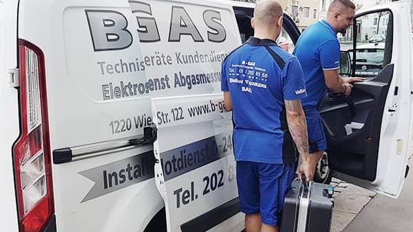 B-GAS Notdienst im Einsatz