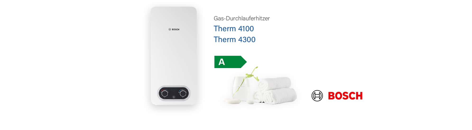 Junkers/Bosch Therm 4200 & 4300 Durchlauferhitzer